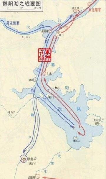 鄱阳湖水战路线图